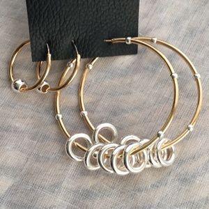 Free People Golden Hoop Earring Set